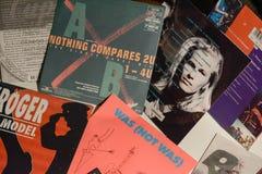 Única coleção do vintage das estrelas de cinema e do artista famoso no 1990: s fotografia de stock royalty free