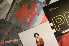 Única coleção do vintage das estrelas de cinema e do artista famoso no 1990: s imagem de stock