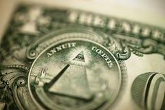 Única conta de dólar Fotografia de Stock Royalty Free
