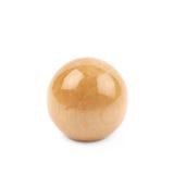 Única esfera de madeira isolada fotos de stock royalty free