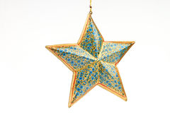 Única estrela azul da cor fotografia de stock royalty free