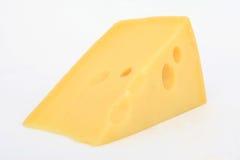 Única fatia de queijo suíço Imagens de Stock Royalty Free