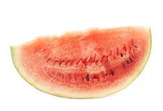 Única fatia de um fruto da melancia isolado Fotografia de Stock Royalty Free