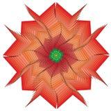 Única flor no estilo gótico isolado no branco Ilustração Royalty Free