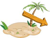 Única ilha fabulosa do tesouro ilustração royalty free