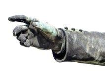 Única mão de bronze antiga Fotografia de Stock