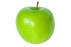 Única maçã verde isolada no branco Fotos de Stock Royalty Free