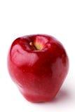 Única maçã vermelha suculenta madura manchada foto de stock royalty free