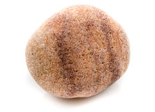 Única pedra isolada no fundo branco Fotografia de Stock Royalty Free