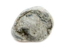Única pedra isolada no fundo branco Imagem de Stock Royalty Free