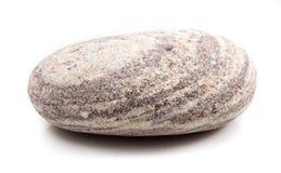 Única pedra isolada no fundo branco Fotografia de Stock
