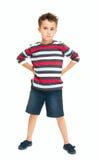 Única posição impertinente do rapaz pequeno Fotos de Stock Royalty Free