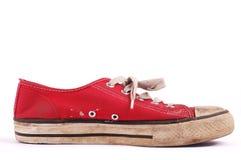 Única sapatilha vermelha imagem de stock royalty free