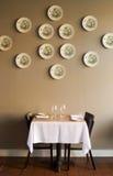 Única tabela de jantar Imagem de Stock Royalty Free