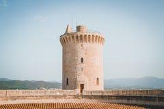 Única torre do castelo fotografia de stock