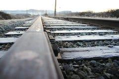 Única trilha Railway fotografia de stock royalty free
