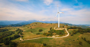 Única turbina de vento Foto de Stock Royalty Free