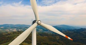 Única turbina de vento Fotografia de Stock