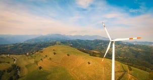 Única turbina de vento Imagens de Stock Royalty Free