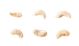 Únicas porcas de caju isoladas Fotografia de Stock Royalty Free