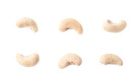 Únicas porcas de caju isoladas Imagem de Stock Royalty Free