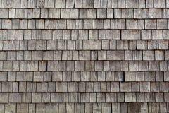 Únicas telhas de madeira Foto de Stock
