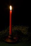 Único candel Imagens de Stock