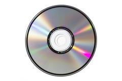 Único CD no fundo branco Imagens de Stock Royalty Free