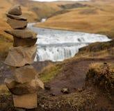 Único close-up do monte de pedras Imagens de Stock