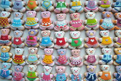 Único, colorido, galletas de la miel Fotografía de archivo