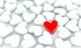 Único coração Imagens de Stock Royalty Free