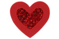 Único coração com grânulos Foto de Stock Royalty Free