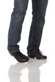 Único dançarino de torneira foto de stock