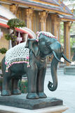 Único elefante de pedra em Wat Rajabopit Imagens de Stock