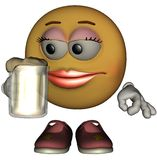 Único Emoticon fêmea Fotografia de Stock Royalty Free