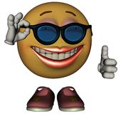 Único Emoticon fêmea Fotografia de Stock