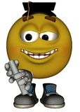 Único Emoticon masculino Fotografia de Stock