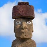 Único Moai no console de Easter fotografia de stock royalty free