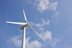 Único moinho de vento para a produção energética elétrica renovável Imagem de Stock