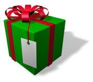 Único pacote do Natal com Tag Imagens de Stock