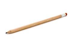 Único penicil de madeira isolado no branco Imagens de Stock Royalty Free