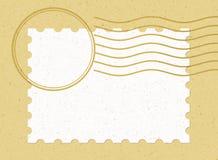 Único selo em branco horizontal imagem de stock royalty free