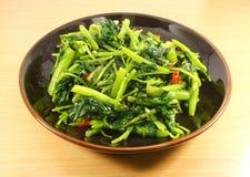 Único serviço de vegetais chineses Foto de Stock