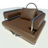 Único sofá de Brown Fotografia de Stock