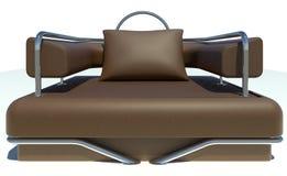 Único sofá de Brown Imagens de Stock