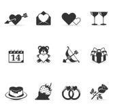 Únicos ícones da cor - amor Imagem de Stock