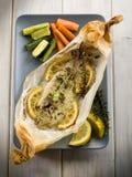 Únicos pescados amartillados en una envoltura Fotos de archivo
