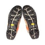 Únicos zapatos de la nueva pista en un fondo blanco Fotografía de archivo libre de regalías