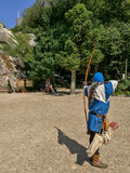 Übendes Bogenschießen des Ritters Lizenzfreies Stockbild