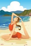 Übendes Yoga der Frau Lizenzfreies Stockbild